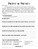 FREE Parent Questionnaire for Back to School!