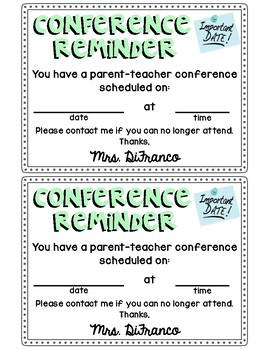 FREE Parent-Teacher Conference Reminders