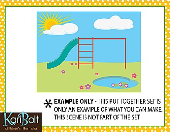 FREE Park Playground Clip Art
