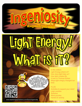 FREE Partial preview Ingeniosity: Light Energy (New hands-on activities)