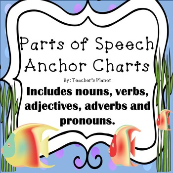 graphic about Parts of Speech Chart Printable called Absolutely free Elements of Speech Anchor Charts!