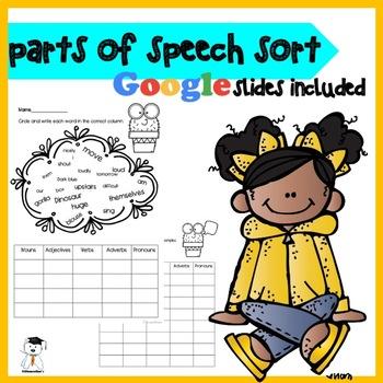 FREE Parts of Speech Sort