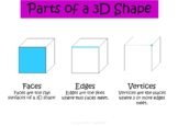 FREE Parts of a 3D Shape Poster