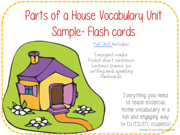 FREE Parts of a House Flashcards!