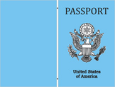 FREE Passport Printout cute on colored paper