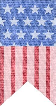 FREE Patriotic Flags Banner Printable (Burlap Texture)!