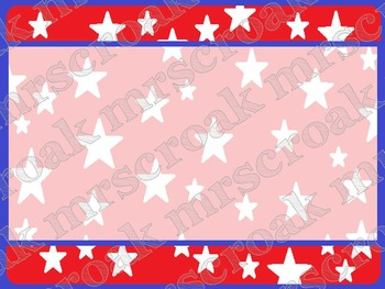 FREE - Labels: Patriotic Theme, 10 per page