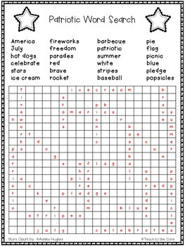 FREE Patriotic Word Search