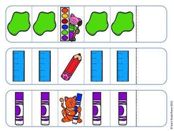 Pattern Cards: School Supply
