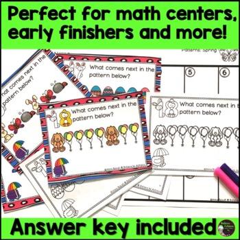 FREE Pattern Task Cards- Spring Theme
