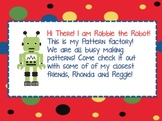 FREE! Patterning Robot theme- powerpoint and worksheet
