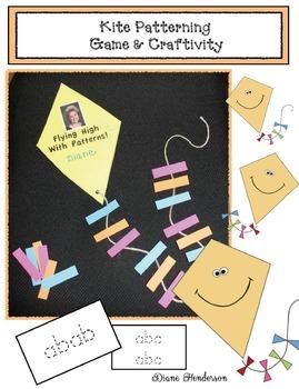 FREE Patterning With Kites Center Game & Craftivity
