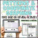 FREE Patterns & Functions and Coordinate Graphing Quiz or Review with Answer Key