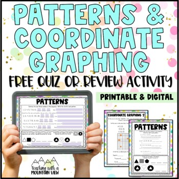 FREE Patterns & Functions and Coordinate Graphing Quiz or