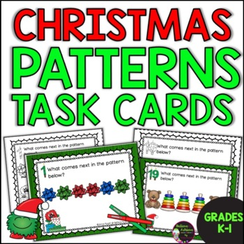 FREE Patterns Task Cards- Christmas Theme