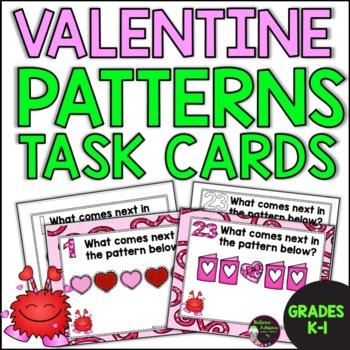 FREE Patterns Task Cards- Valentine's Theme