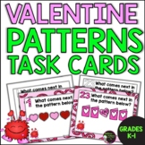 Patterns Task Cards- (Valentine's Day Theme) FREE