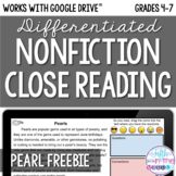 FREE Pearls Close Reading Comprehension - Online/Distance