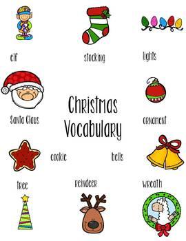 FREE Peek Inside Christmas and Nativity Vocabulary Activity