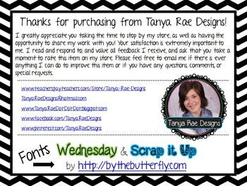FREE Pencil Bin Labels by Tanya Rae Designs