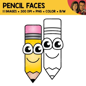 FREE Pencil Face Clipart