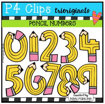 FREE Pencil Numbers (P4 Clips Trioriginals)