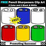 FREE Pencil Sharpeners Clipart, Back to School Supplies Clip Art,  SPS
