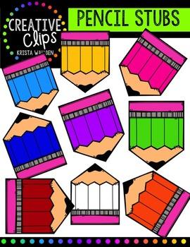 FREE Pencil Stubs {Creative Clips Digital Clipart}