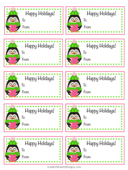 FREE Penguin Christmas Tags