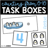 FREE Penguin Counting 0-10 Task Cards
