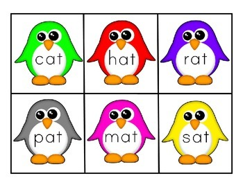 FREE Penguin Word Family Sorts