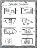 (FREE) Perimeter Playground Activity Page - Worksheet