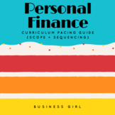 FREE Personal Finance Curriculum Pacing Guide (Scope and Sequencing)