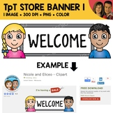 FREE TpT Store Banner Clipart 1 - Quote Area