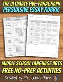 FREE Persuasive Essay Rubric