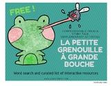 FREE Petite Grenouille à Grande Bouche French Story Talk A