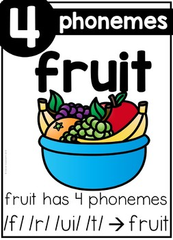 FREE Phoneme Counting Posters and Printables