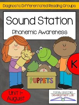 FREE! Phonemic Awareness Centers for Kindergarten