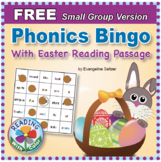 FREE Phonics Bingo With Easter Reading Passage: Small Group Version