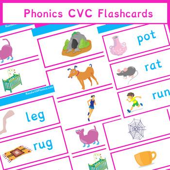 Phonics CVC Flashcards Sample | Phonics Resources | 9 Pages