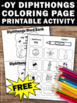FREE Diphthongs Worksheet, oy Vowel Sounds, Word Work Coloring Page