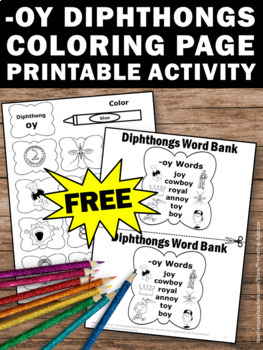 FREE Diphthongs Worksheet, ... by Promoting Success | Teachers Pay ...