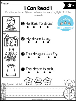 FREE Phonics Fluency Read and Write