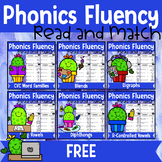 FREE Phonics Fluency Read and Match