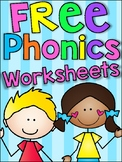 FREE Phonics Worksheets