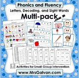 Phonics and Fluency Letters CVC words and Sight Words