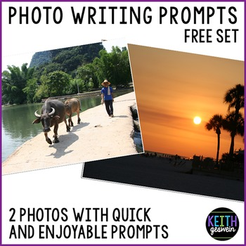 FREE Photo Writing Prompts: Quick & Fun Prompts About 2 Photos