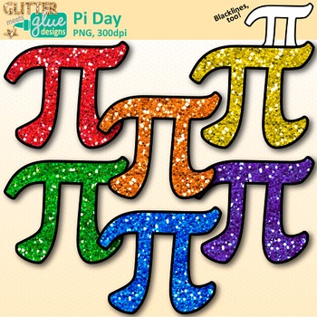 Pi Day Clip Art {Area and Circumference Symbol Graphics for Math Activities}