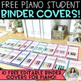 FREE Piano Student Binder Covers for Piano Lessons {EDITABLE}
