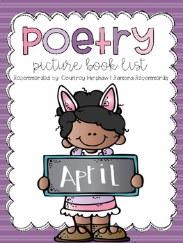 Picture Book List About POETRY